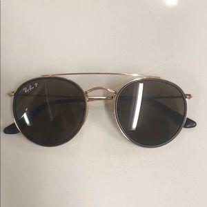 Ray Ban Brow Bar Round Sunglasses